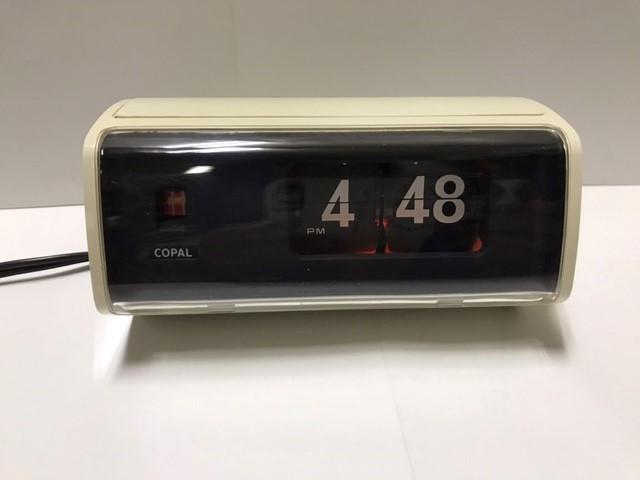 COPAL デジタルクロックコパル222 パタパタ時計 箱・取説・保証書付き 昭和 レトロ_通電時