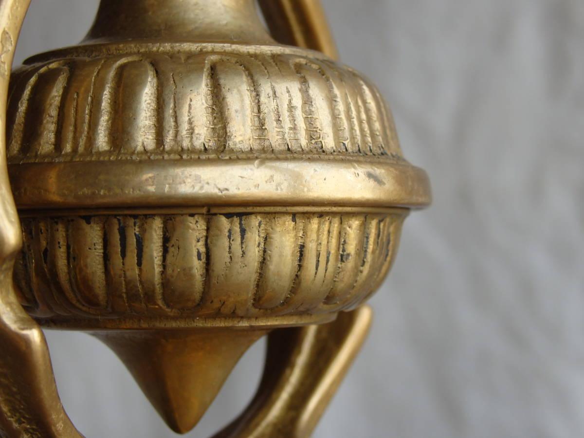 フランスアンティーク キャンドルスタンド 壁掛け 両用 ブロンズ 青銅 燭台 蚤の市 ブロカント ゴールド インテリア ディスプレイ 装飾_画像9