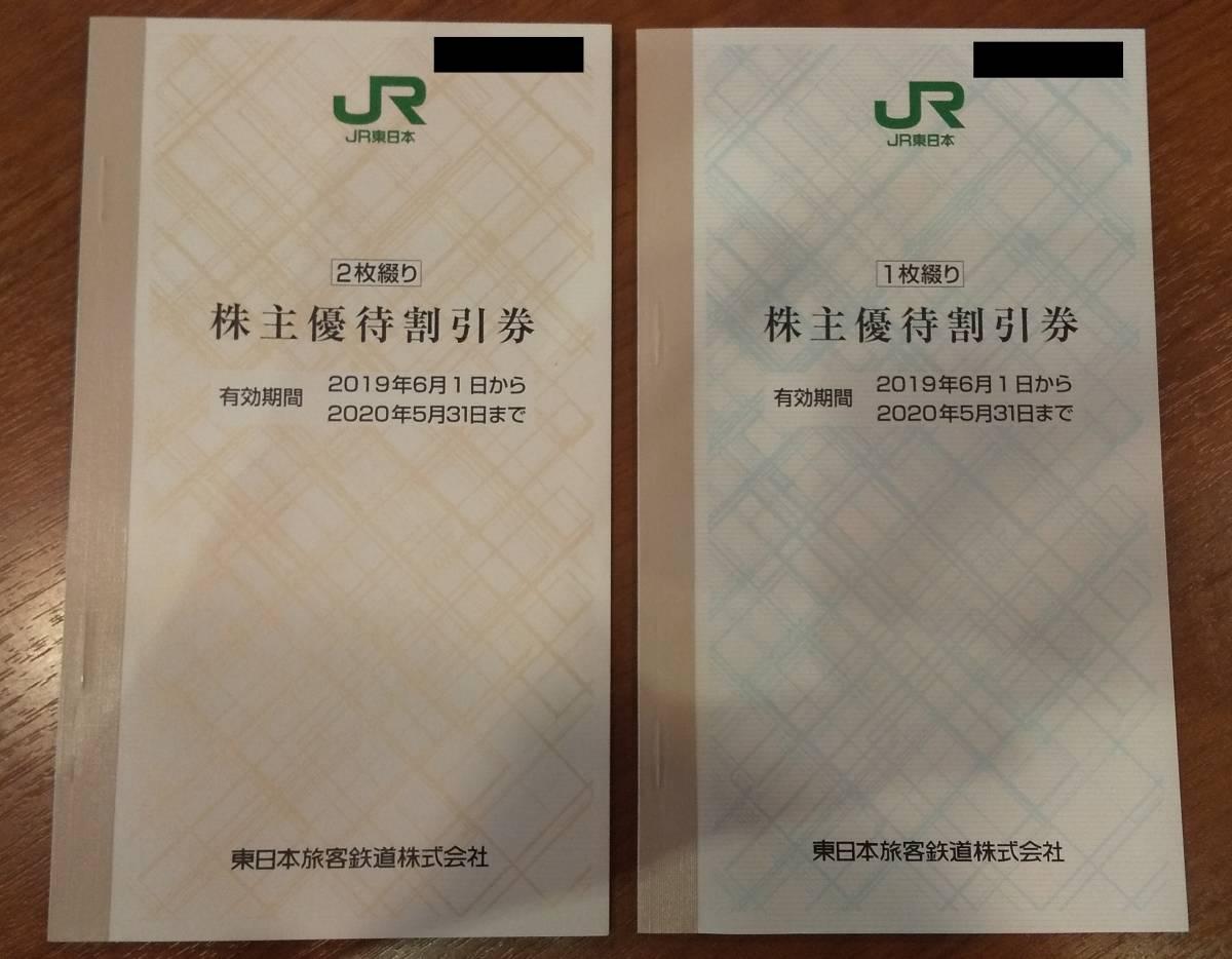 ■JR東日本(株主優待2割引券)3枚セット(有効期限20年5月末→21年5月末延長)【送料込】■ _画像1