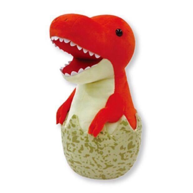 恐竜たまごぬいぐるみ ティラノサウルス 赤 レッド BIG ジャンボ グッズ プライズ_商品イメージ
