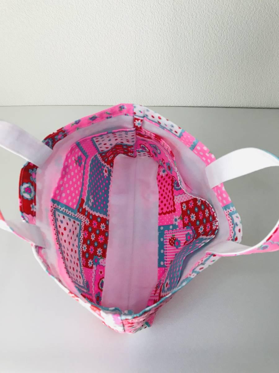ハンドメイド★バッグインバッグ ピンクス レトロミックス 送料込 新品★ミニバッグ インナーキャリング ka2koba