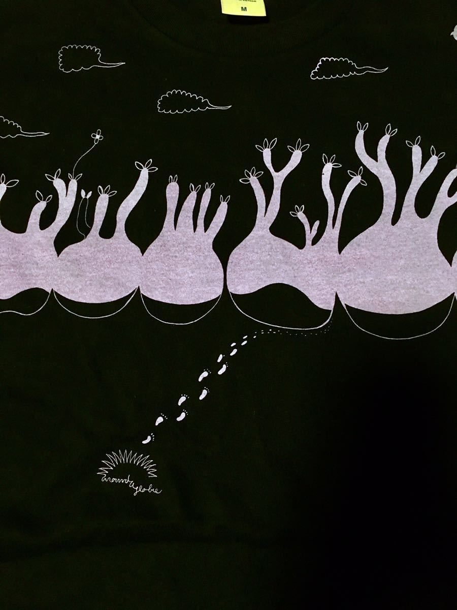 長袖Tシャツ Mサイズ 綿100% パキポディウム コーデックス アデニア 塊根植物 多肉植物 グラキリス 足跡 pacypodium_画像4