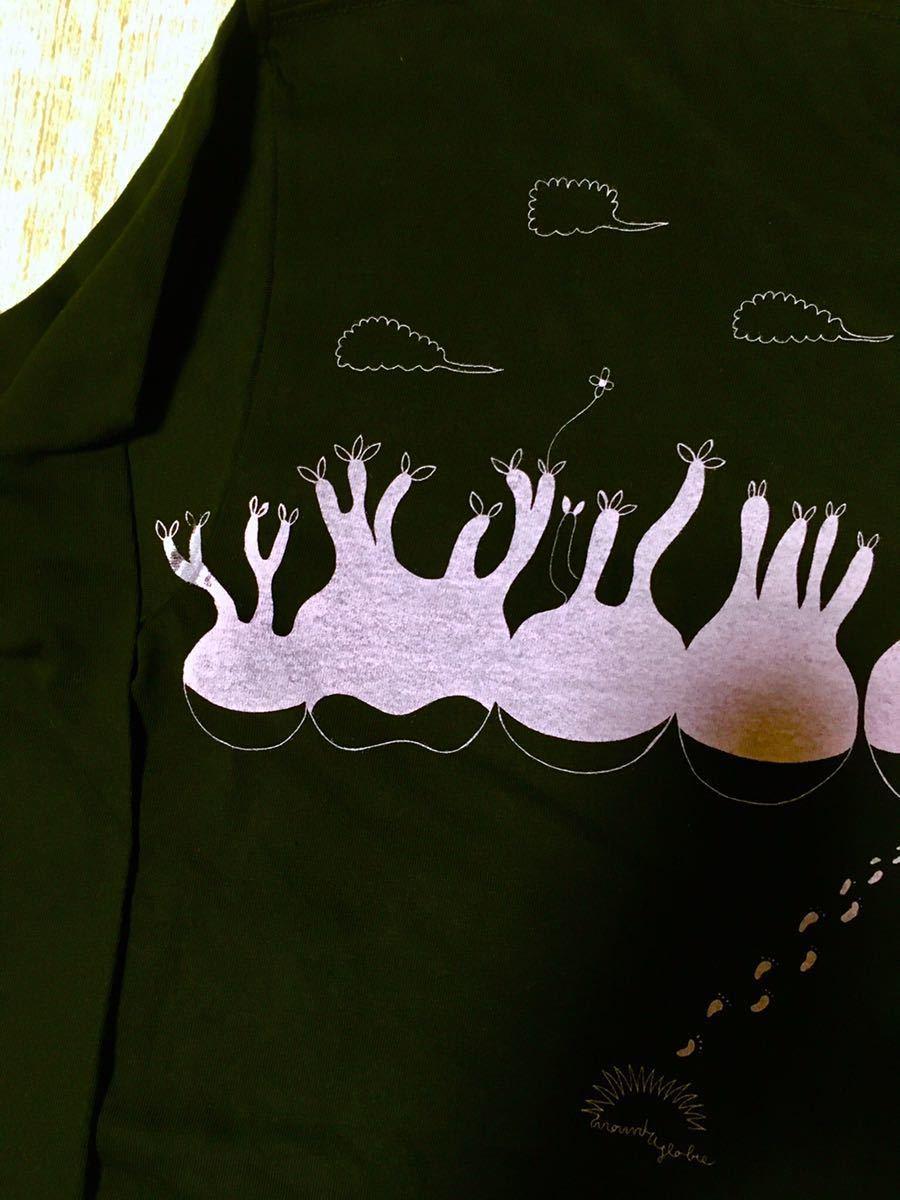 長袖Tシャツ Mサイズ 綿100% パキポディウム コーデックス アデニア 塊根植物 多肉植物 グラキリス 足跡 pacypodium_画像6