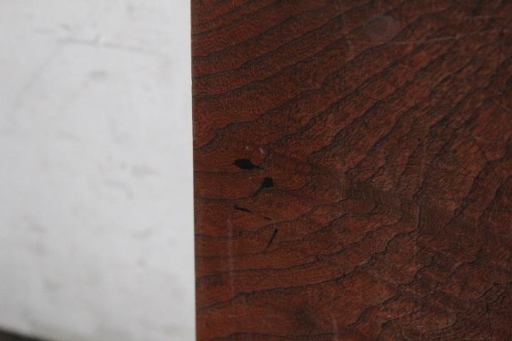 TB526美杢 重厚な天板 欅 3×107×43cm 9.65kg◇無垢/木材/古材/艶木/杢目/銘木/DIY/家具/木工/テーブル/敷板/古道具タグボート_画像7