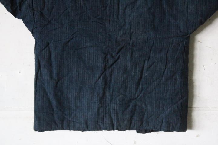 TB526木綿製 古布 半纏 藍染◇着物/和服/上着/時代/襤褸/古裂/リメイク素材/boro/裁縫/和裁/手芸/布地/古着/古民具/古道具タグボート_画像8