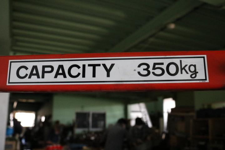 TB526パワーリフター OPK PL-H350-12S◇350K/ハンドリフト/油圧リフト/手押し式/工業系/店舗用/業務用/台車/中古/古道具タグボート_画像10
