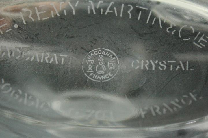 TB526バカラ 洋酒ボトル レミーマルタン◇Remy Martin/Baccarat/コニャック/COGNAC/クリスタルガラス/空瓶/空ボトル/古道具タグボート_画像3