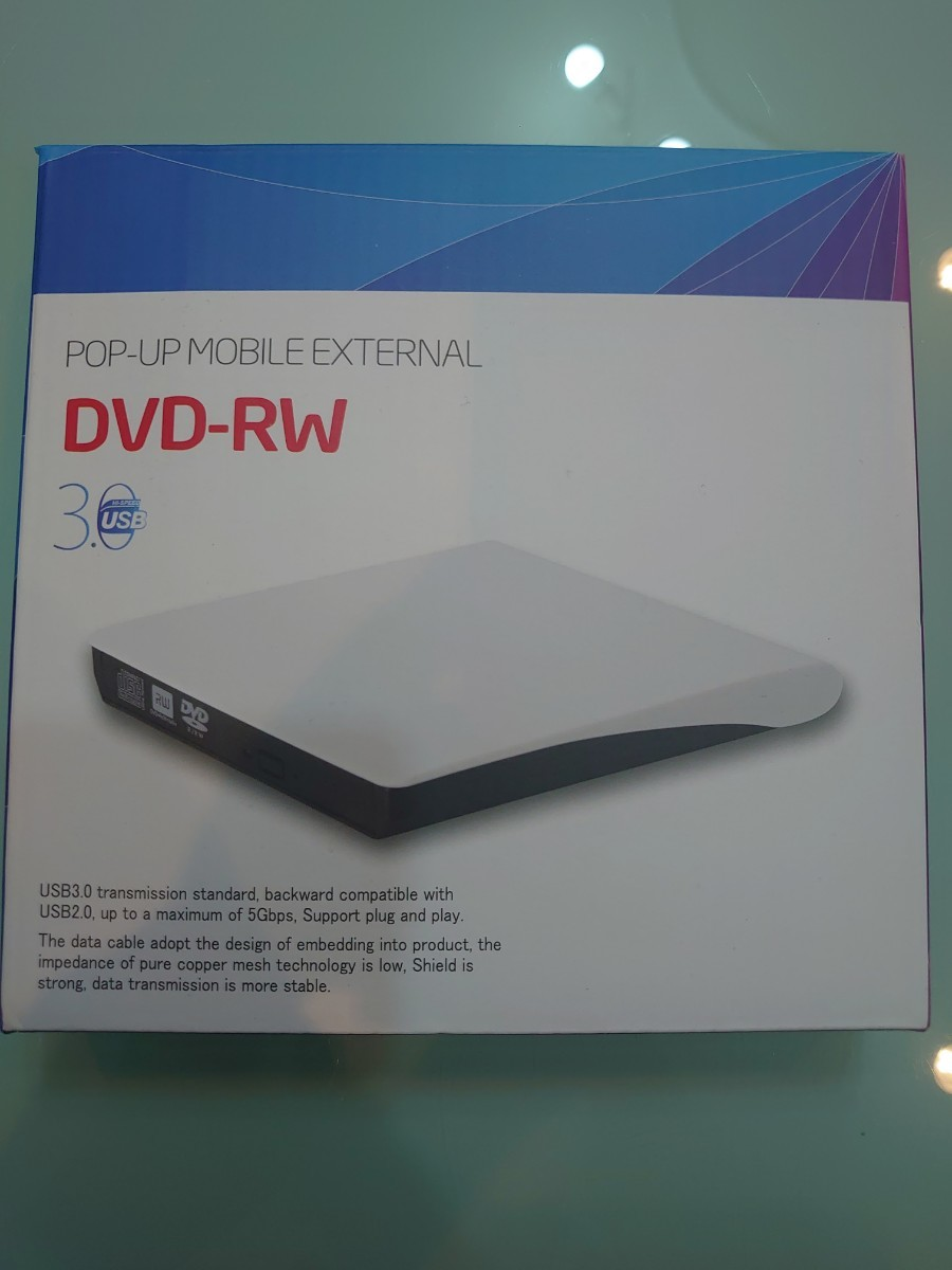 DVDドライブ CDドライブ 12ヶ月品質保証 外付け DVD ドライブ CD DVD-RWドライブ