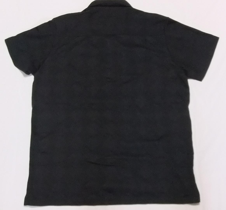 即決 送料無料 ルコック ゴルフコレクション ポロシャツ LL 黒 半袖 ゴルフウエア プルオーバー ボタンダウン 襟付き ボタンダウン メンズ_画像3
