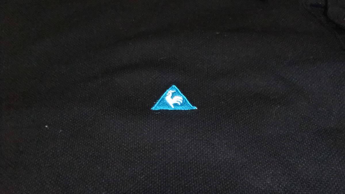 即決 送料無料 ルコック ゴルフコレクション ポロシャツ LL 黒 半袖 ゴルフウエア プルオーバー ボタンダウン 襟付き ボタンダウン メンズ_画像4