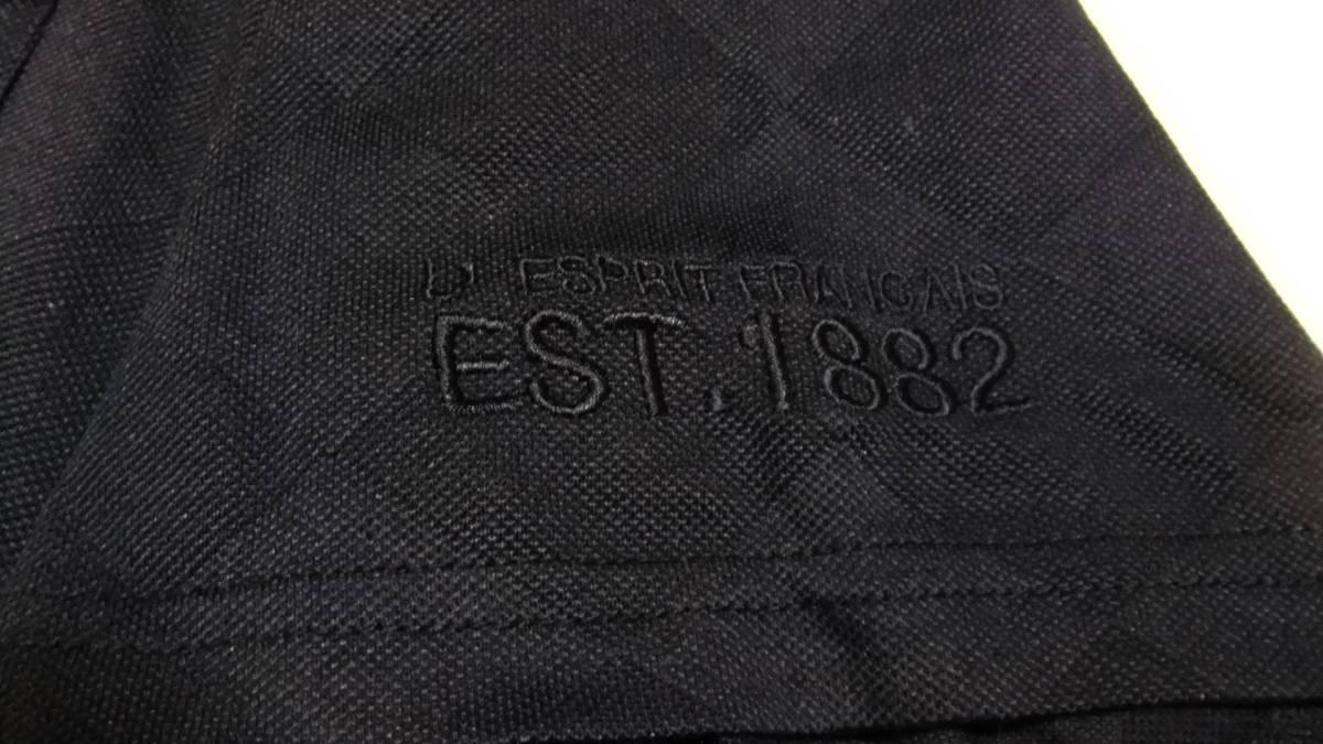 即決 送料無料 ルコック ゴルフコレクション ポロシャツ LL 黒 半袖 ゴルフウエア プルオーバー ボタンダウン 襟付き ボタンダウン メンズ_画像6