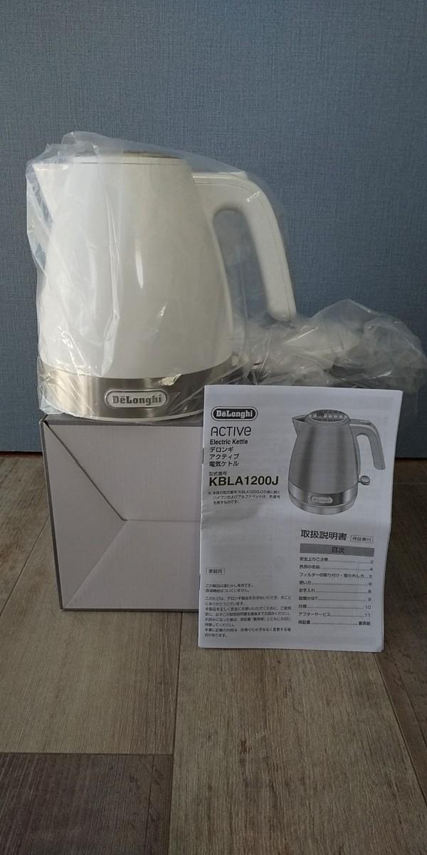 DeLonghi  電気ケトル  1L  デロンギ  白 KBLA1200J-W