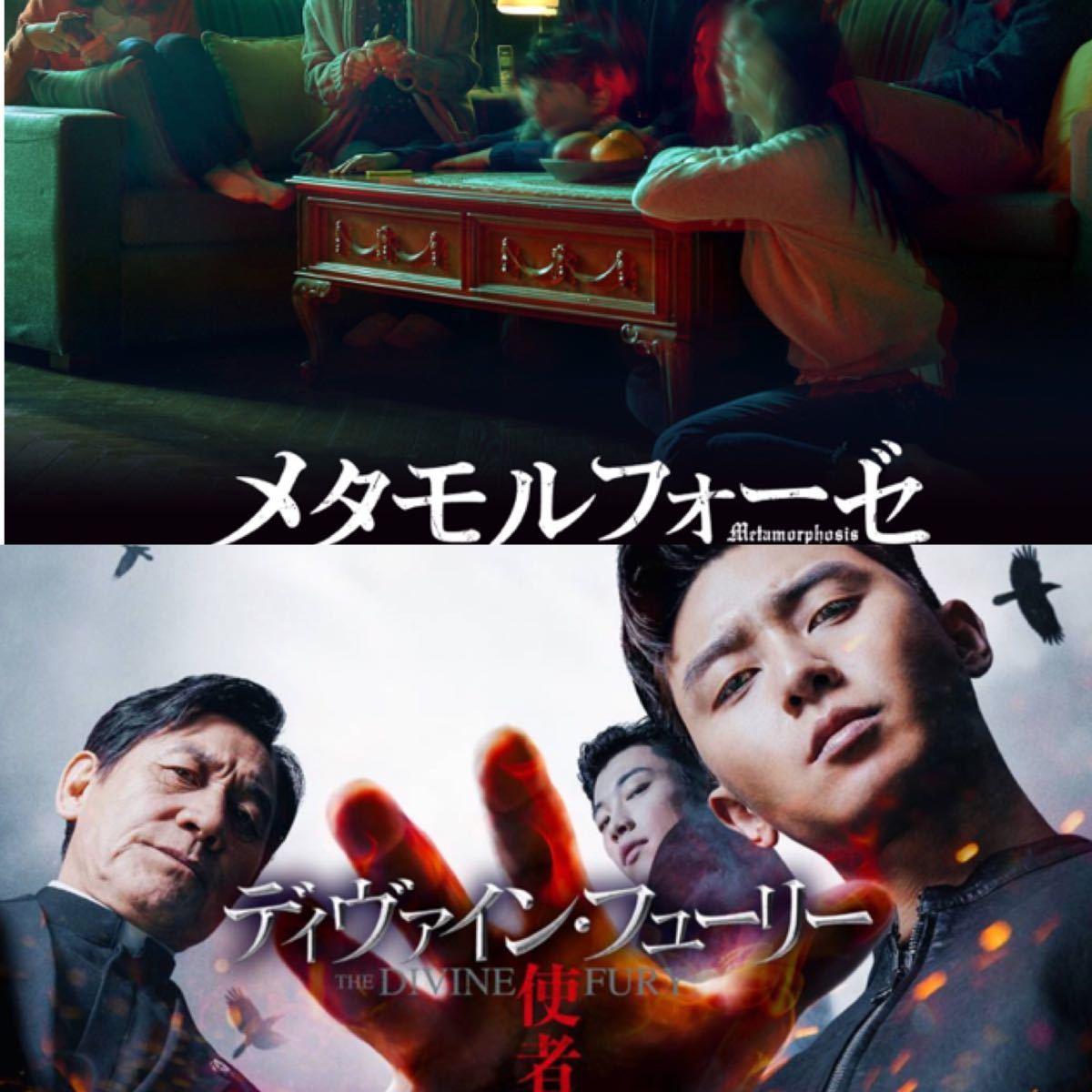韓国映画  ディヴァインフューリー  メタモルフォーゼ  DVD  2点セット  レーベル有り