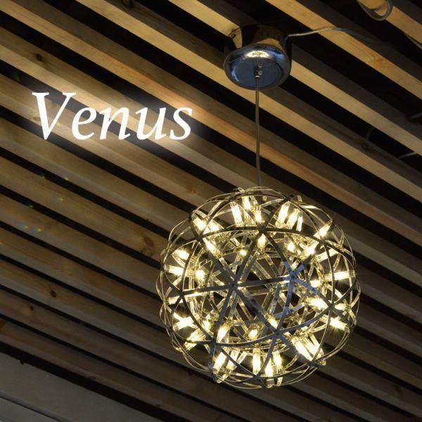 天体照明 オブジェにもなる天井照明 LED リビング 吹抜け カフェ 店舗 ホテル ペンダントライト 吊り下げ 40cm 白い電球6000K P038-Venus_画像2