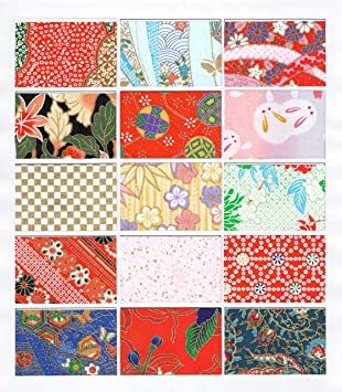 Aセット 15枚 【.co.jp 限定】和紙かわ澄 千代紙 友禅和紙 15×15cm 15柄・15枚入_画像2