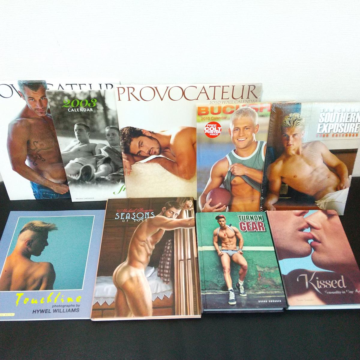 9冊セット 輸入 洋書 男性ヌード 肉体美 ゲイ 外国人 裸体 写真集 カレンダー