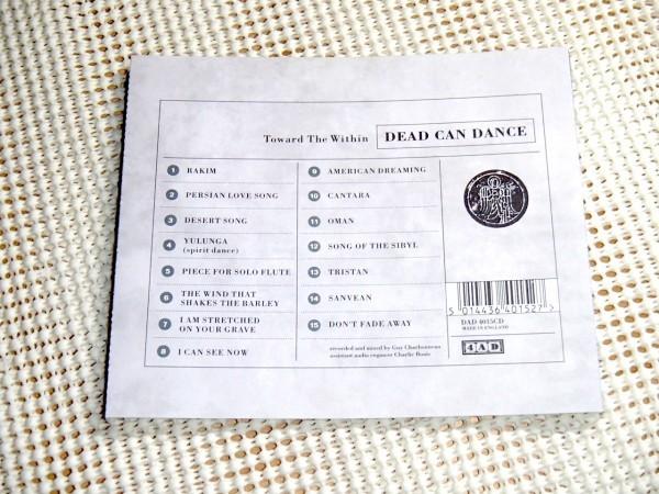 廃盤 Dead Can Dance デッド カン ダンス Toward The Within/ 4AD / Lisa Gerrard Brendan Perry 在籍 ライヴ 好盤 Cantara Yulunga 等収録