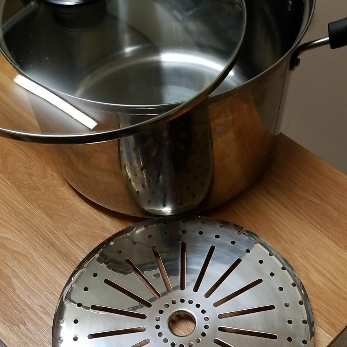 ステンレス 両手鍋(蒸し器)