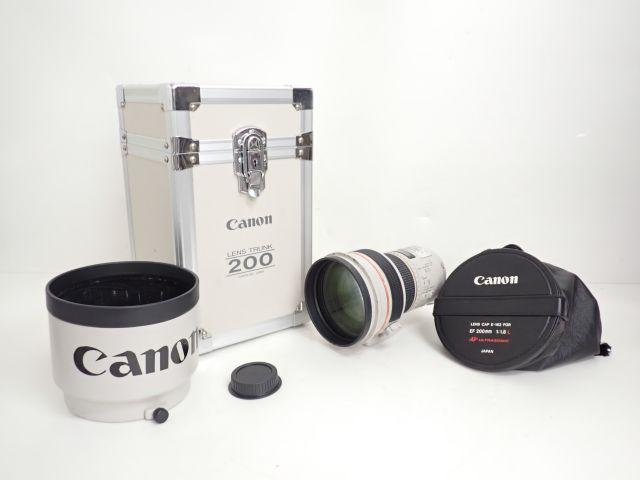 Canon レンズ EF 200mm F1.8L USM ハードケース付 キヤノン ◆ 60052-5