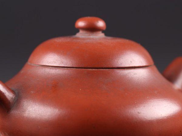 中国古玩 唐物 煎茶道具 朱泥 紫泥 孟臣 水平 款 紫砂壷 茶壷 急須 古作 時代物 極上品 初だし品 a7828_画像5
