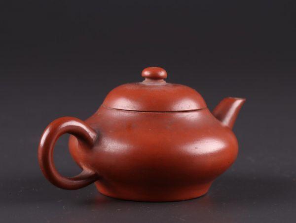 中国古玩 唐物 煎茶道具 朱泥 紫泥 孟臣 水平 款 紫砂壷 茶壷 急須 古作 時代物 極上品 初だし品 a7828_画像3