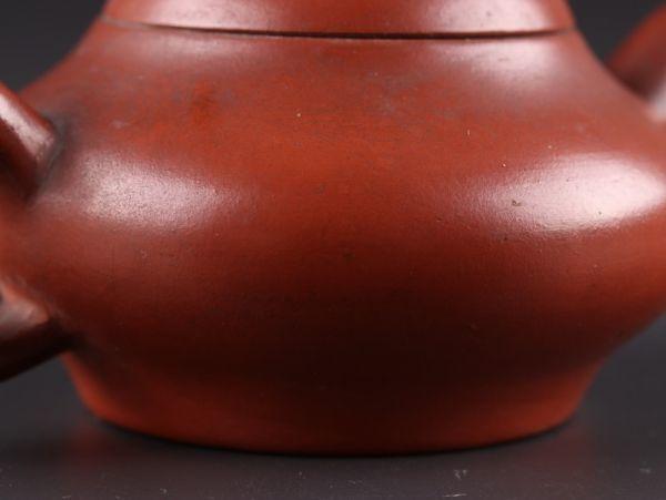 中国古玩 唐物 煎茶道具 朱泥 紫泥 孟臣 水平 款 紫砂壷 茶壷 急須 古作 時代物 極上品 初だし品 a7828_画像6