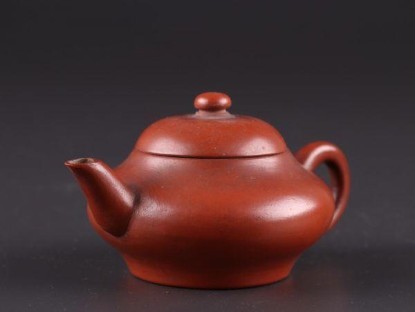 中国古玩 唐物 煎茶道具 朱泥 紫泥 孟臣 水平 款 紫砂壷 茶壷 急須 古作 時代物 極上品 初だし品 a7828_画像2