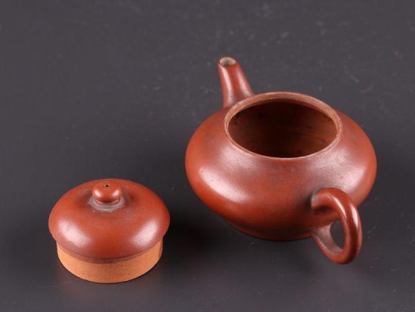 中国古玩 唐物 煎茶道具 朱泥 紫泥 孟臣 水平 款 紫砂壷 茶壷 急須 古作 時代物 極上品 初だし品 a7828_画像7
