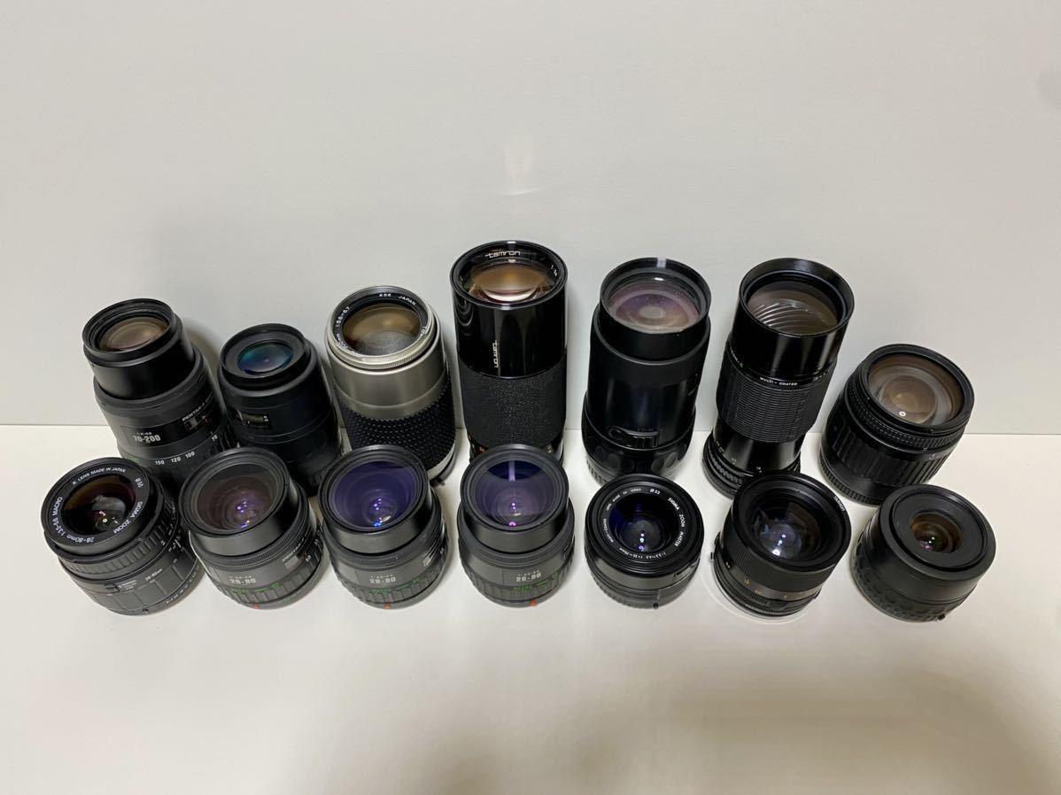現状品 14点 PENTAX ペンタックス用 一眼レフ カメラレンズ まとめ売り AF11点 MF3点 SIGMA TAMRON Tokina など 1円スタート