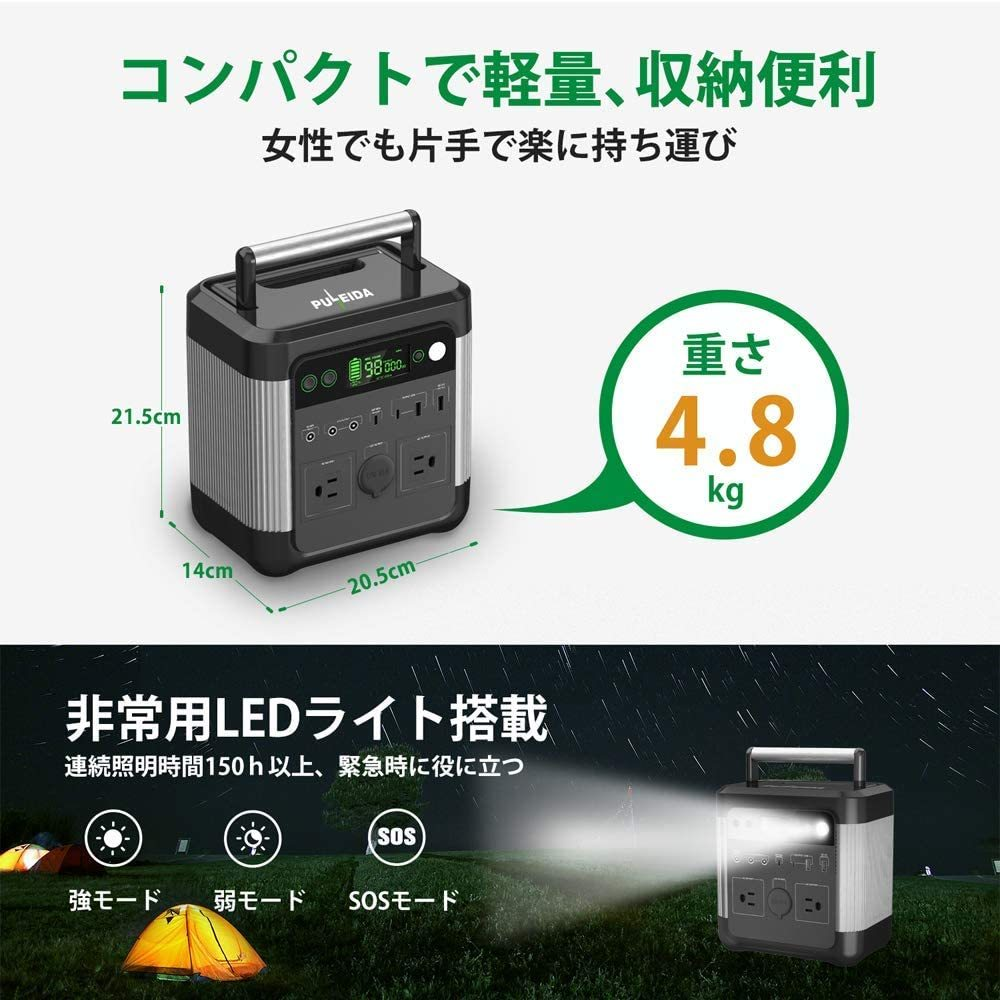 ( anonymity delivery )[ new goods * not yet .]Puleida portable power supply high capacity 140000mAh/518Wh original sinusoidal wave AC(600W moment maximum 950W)