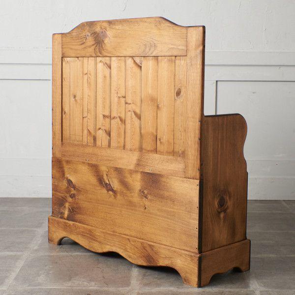 IZ47771I○2点セット 未使用 新古品 収納付きベンチ & チェスト 無垢材 USA製 アーリーアメリカン カントリー 椅子 ベンチ スリムチェスト_画像3