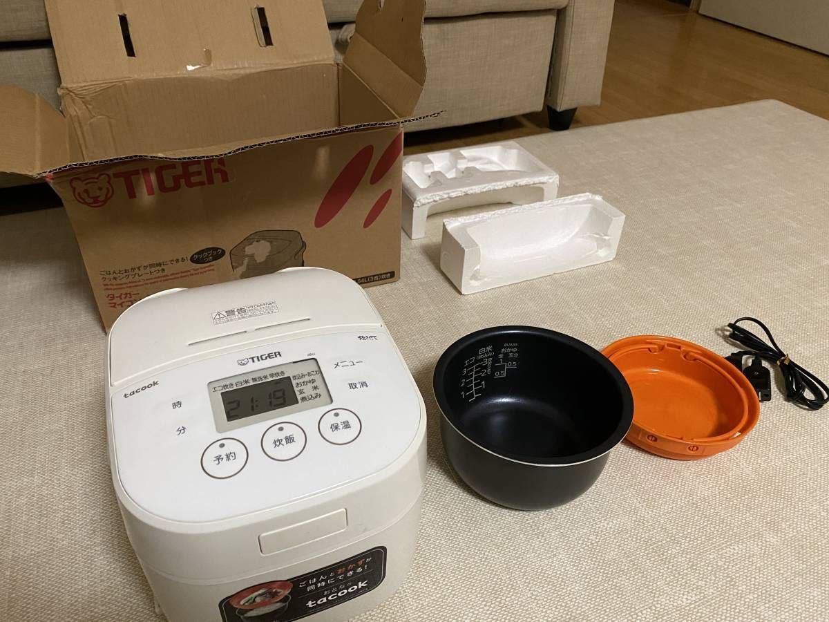 タイガー 炊飯器 マイコン 3合 ホワイト tacook 炊きたて JBU-A551-W