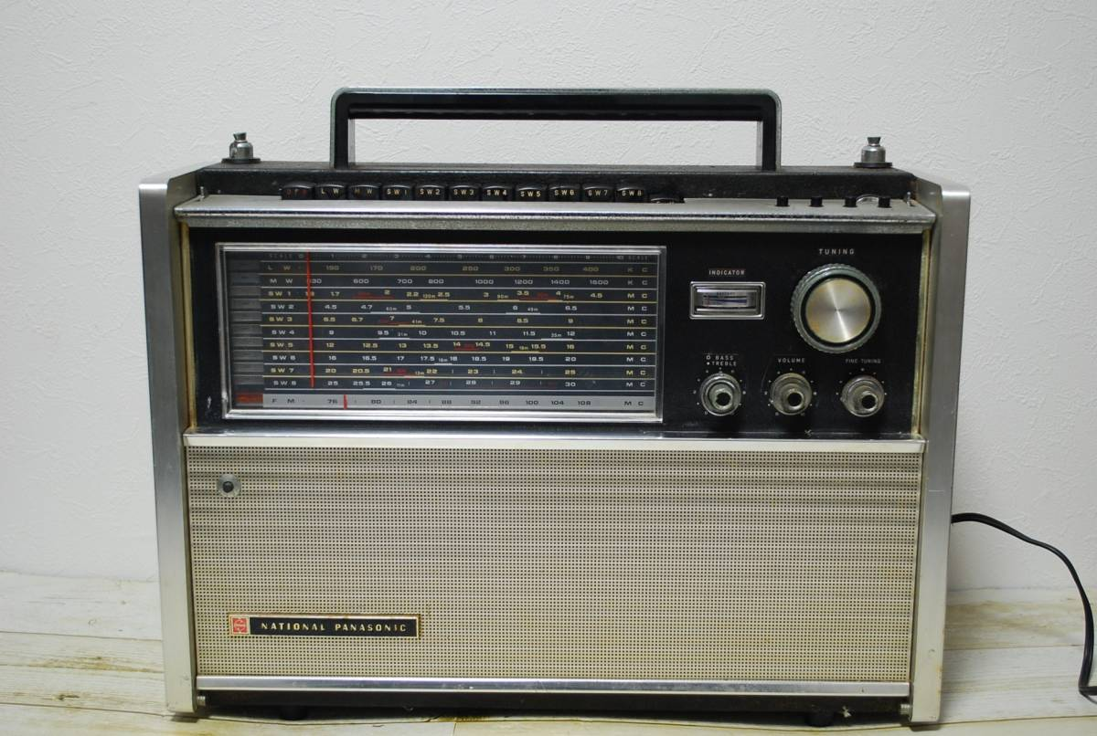 NATIONAL ナショナル RF-5000B BCLラジオ/検索 アンティーク レトロ【04017】