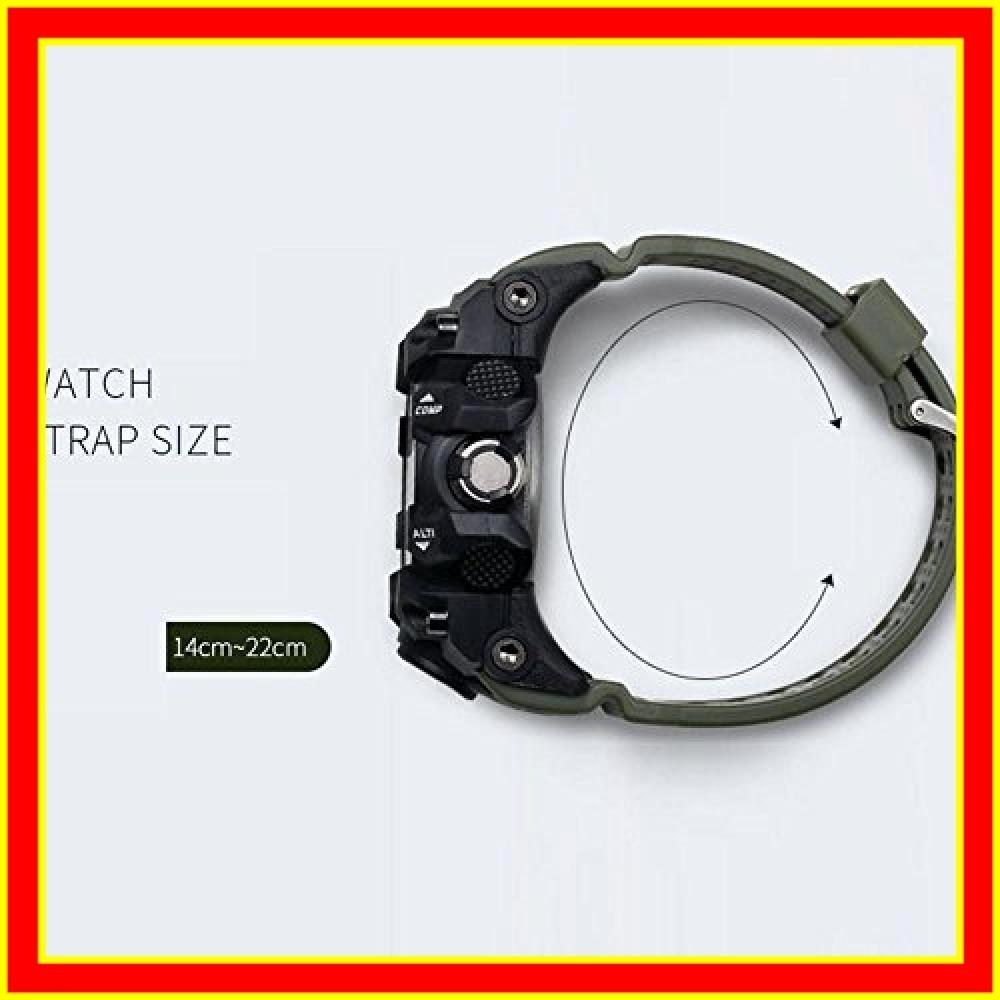 腕時計 メンズ SMAEL腕時計 メンズウォッチ 防水 スポーツウォッチ アナログ表示 デジタル クオーツ腕時計 多機能 ミリタ_画像4