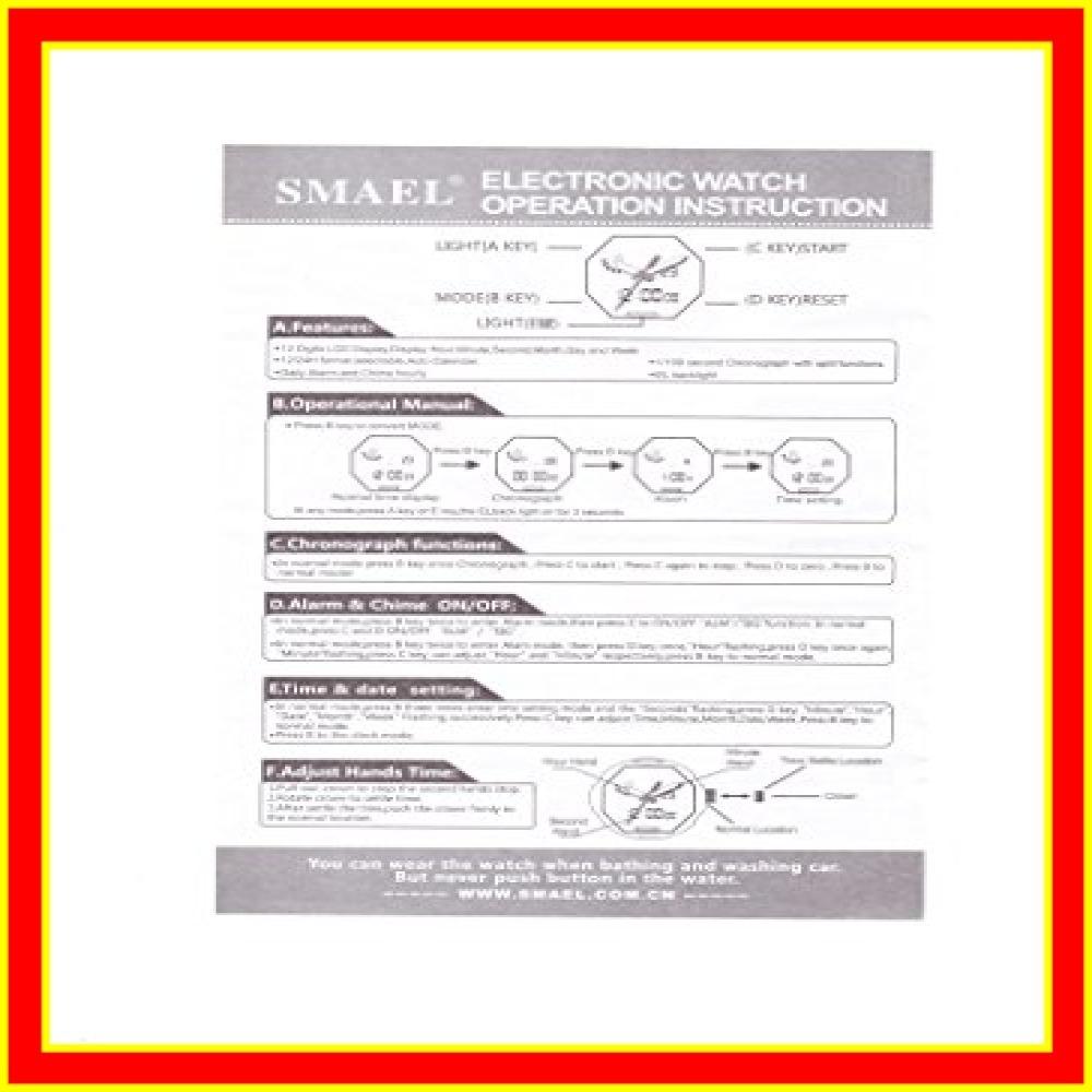腕時計 メンズ SMAEL腕時計 メンズウォッチ 防水 スポーツウォッチ アナログ表示 デジタル クオーツ腕時計 多機能 ミリタ_画像8