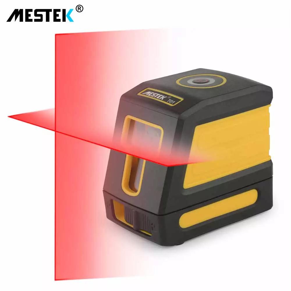 《最安新品・ブラケット付》デジタル測定器 レーザーレベル MESTEK 赤 クロスライン 防水 ポータブル 水平 垂直 ホームツール プロ仕様_画像1
