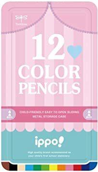 プリント プリント Girl ippo! トンボ鉛筆 スライド缶入 Girl 12色 色鉛筆 CL-RRW0412C