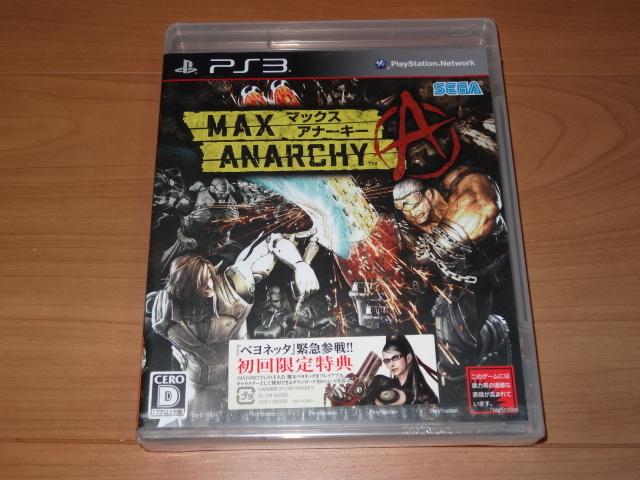 PS3 マックスアナーキー MAX ANARCHY <新品未開封>_画像1