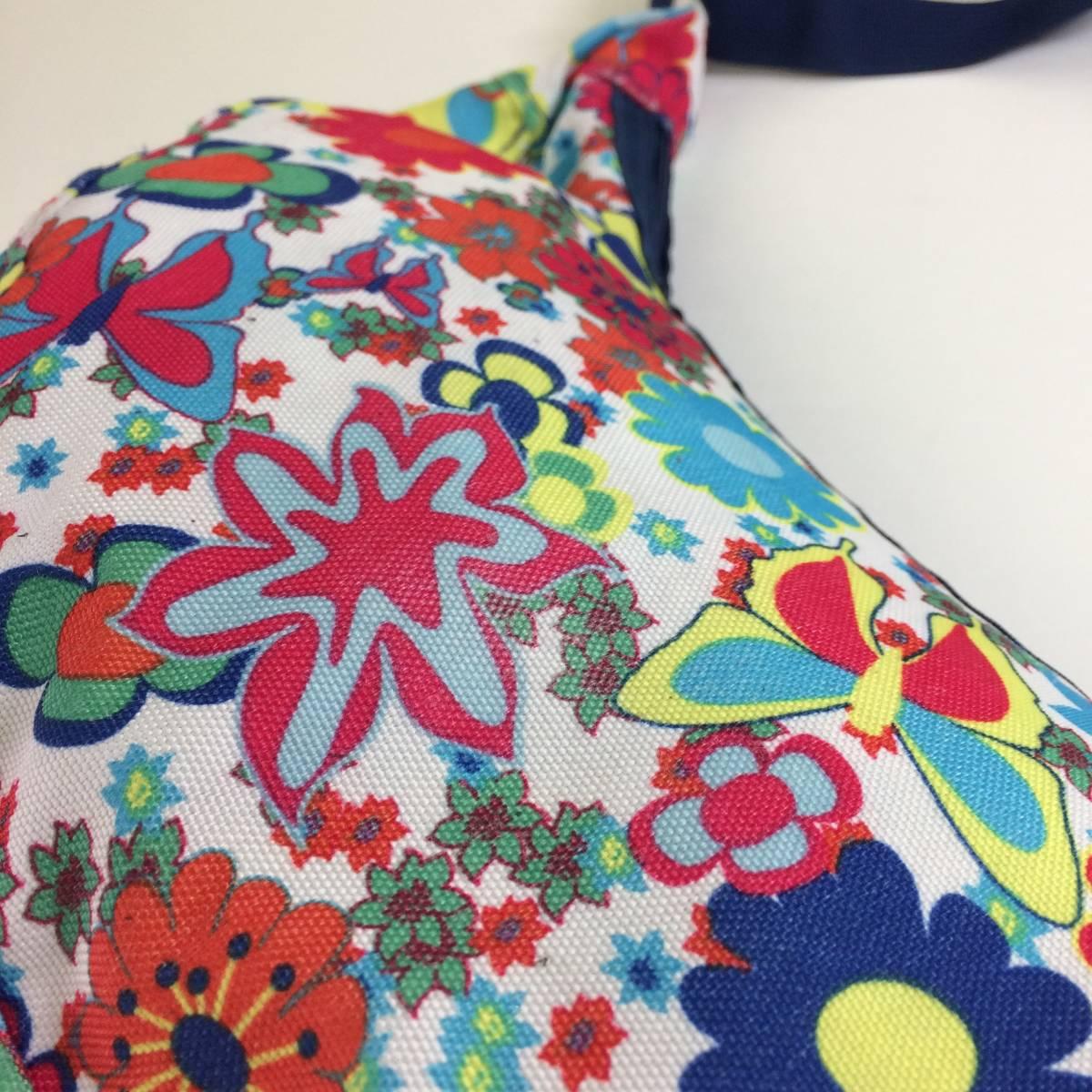 USA製 グレゴリー ラフィンバッグ ラフィン gregory 花柄 ワイルドフラワー アメリカ製 旧タグ 三日月型バッグ ショルダーバッグ