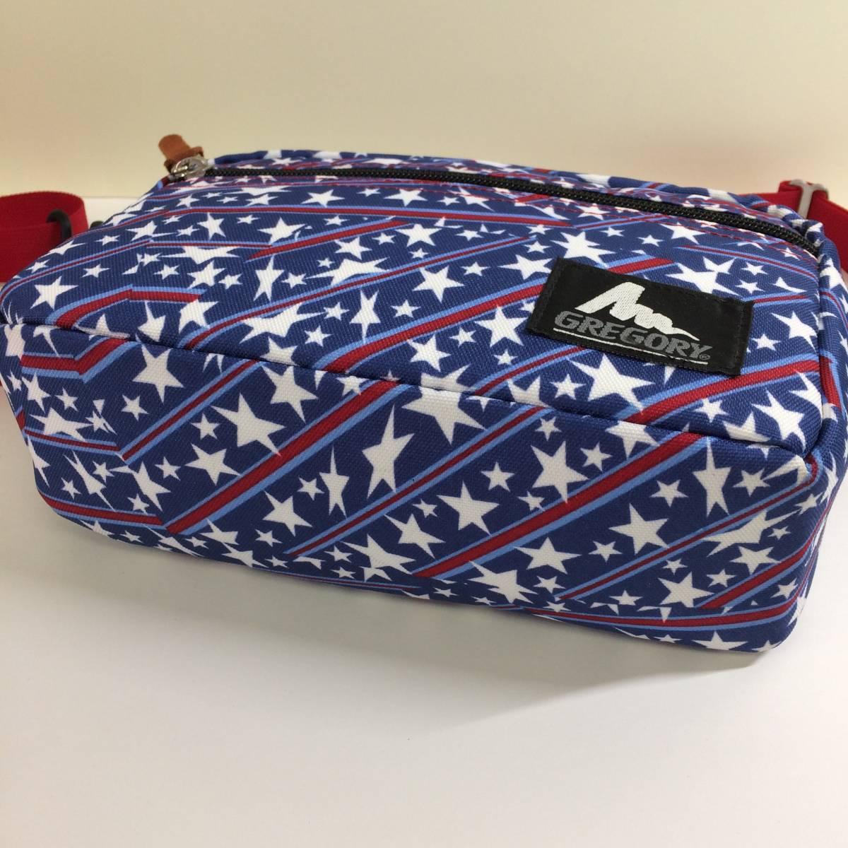 USA製 旧タグ 美品 グレゴリー パデッドショルダーM 星条旗 アメリカンフラッグ ショルダーポーチ ポシェット