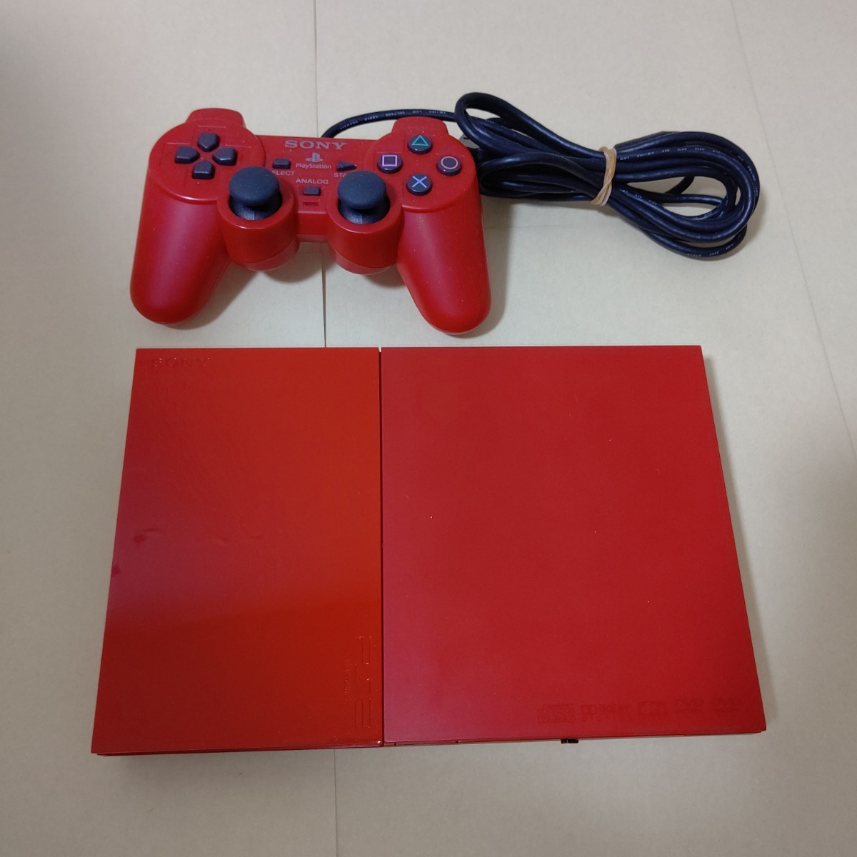 PlayStation 2 本体 シナバー・レッド SCPH-90000CR PS2