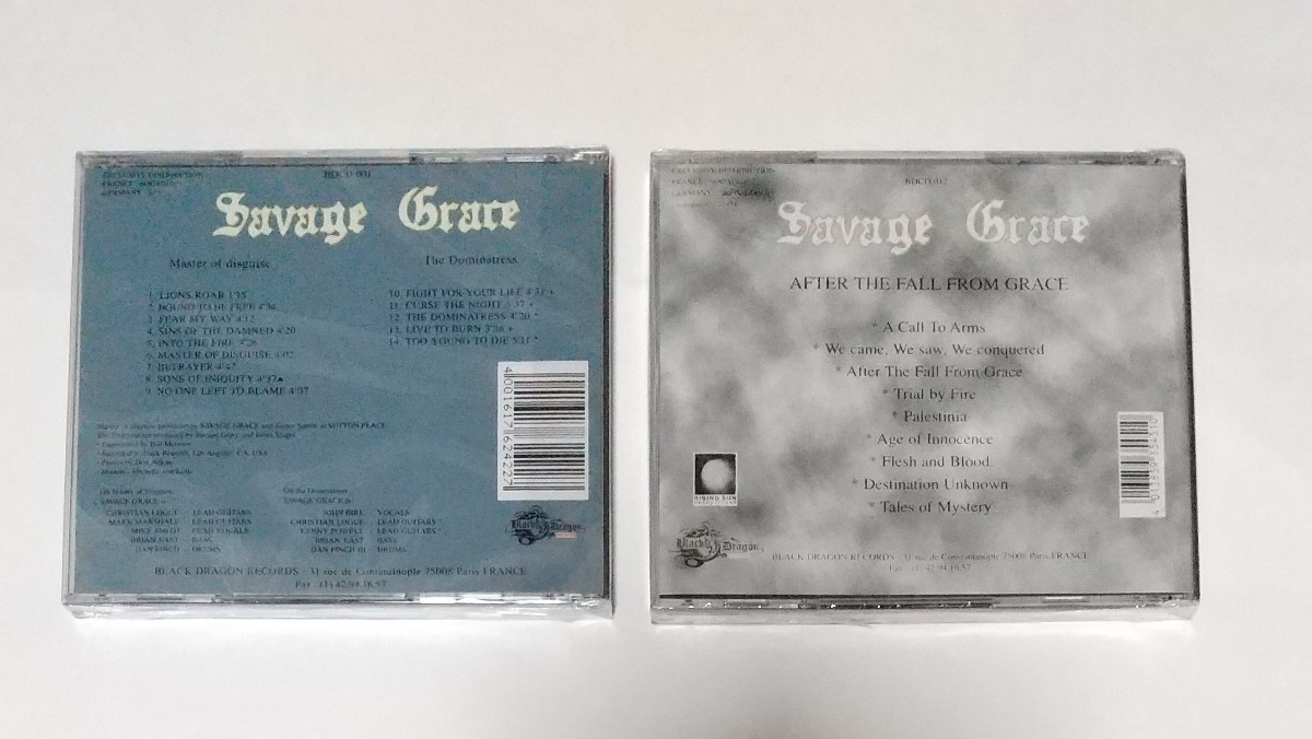 CD 輸入盤リプロ盤 サヴェージ・グレイス Savage Grace 1st+EP、 2nd セット