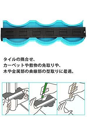 禄 型取りゲージ 380mm Bisoff 測定工具 測定ツール ゲージ コンターゲージ 曲線定規 不規則な測定器 ABSプラス_画像6