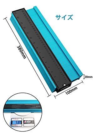 禄 型取りゲージ 380mm Bisoff 測定工具 測定ツール ゲージ コンターゲージ 曲線定規 不規則な測定器 ABSプラス_画像2