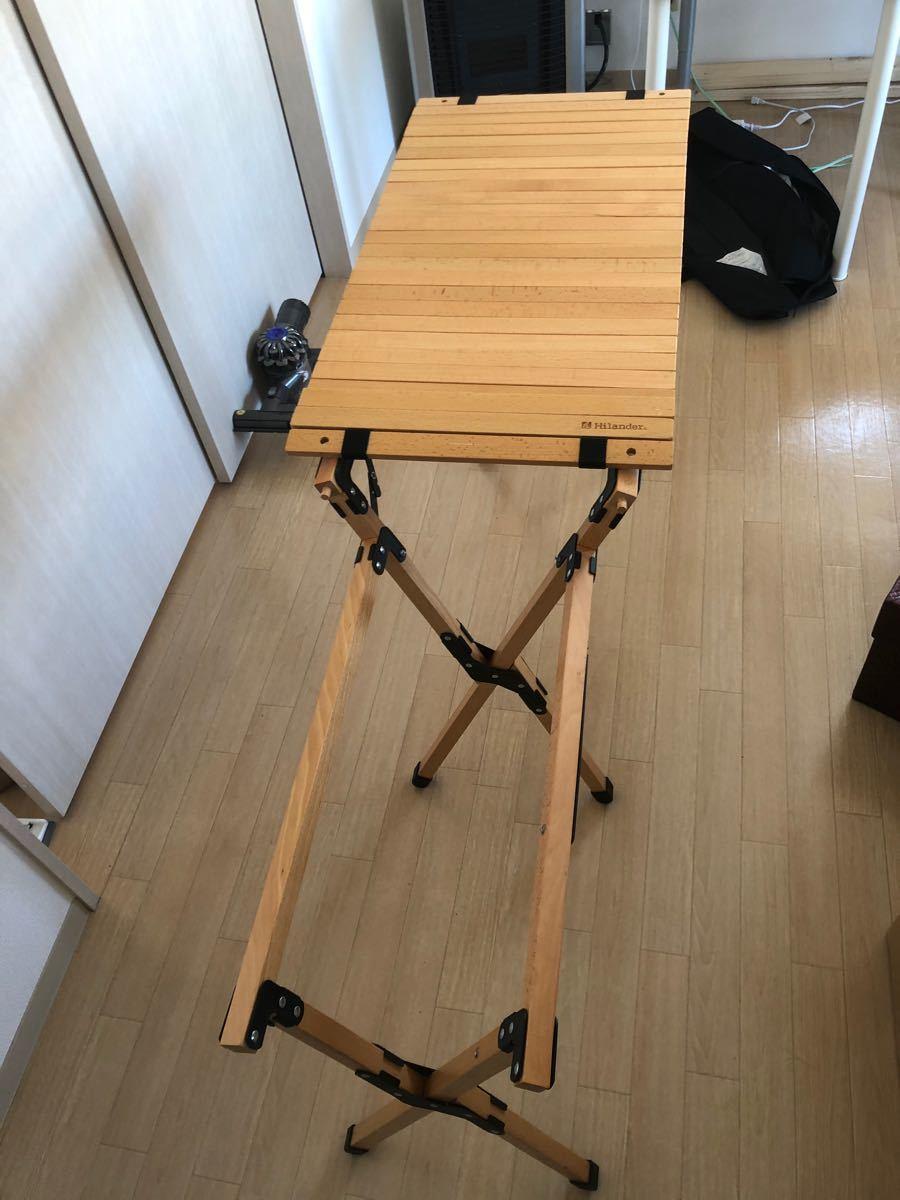 ハイランダー ウッドキッチンテーブル 天板ロール式 キャンプ 札幌なら直接お渡し可能!