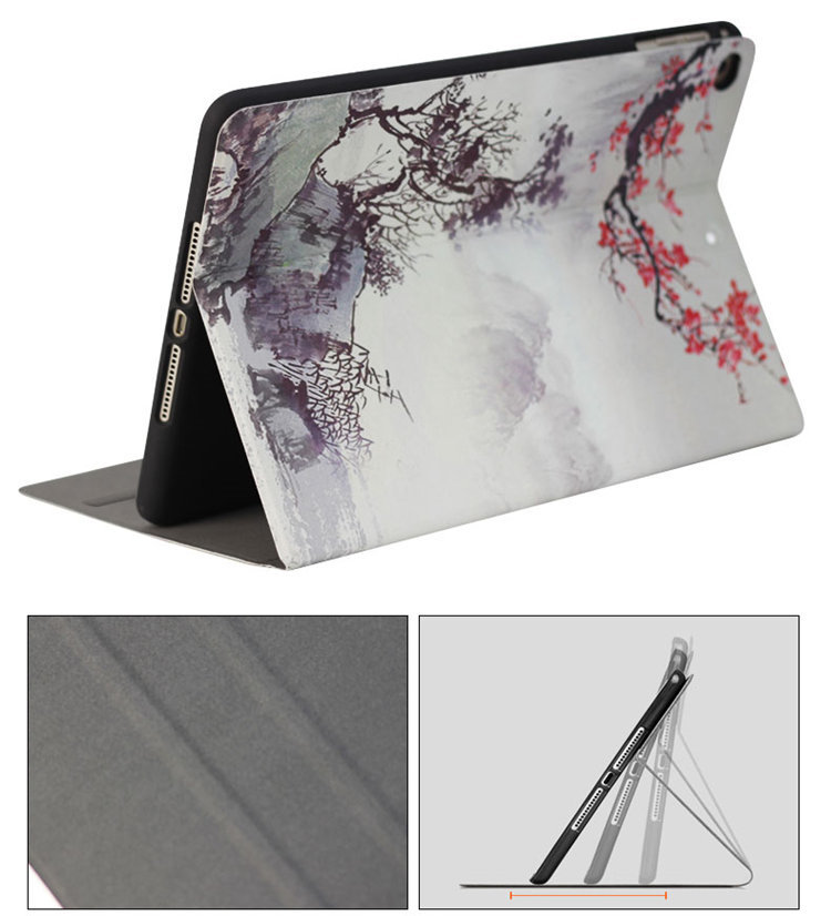 ipad mini5 ケース iPad mini第5世代 7.9インチ ケース アイパッドミニ5 手帳型 耐衝撃 段階調整 オートスリープ機能付き tpuソフトカバー_画像7