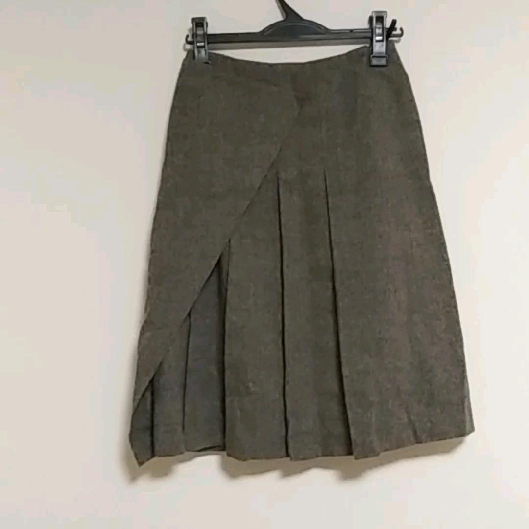 スカート プリーツスカート 巻きスカート