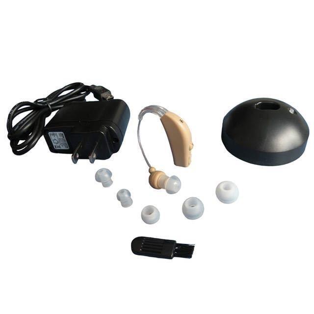 【】耳かけ 充電式 肌色 イヤホンキャップ 大小 多種 軽量 デジタル 小型 集音器 左右 両用 740_画像5