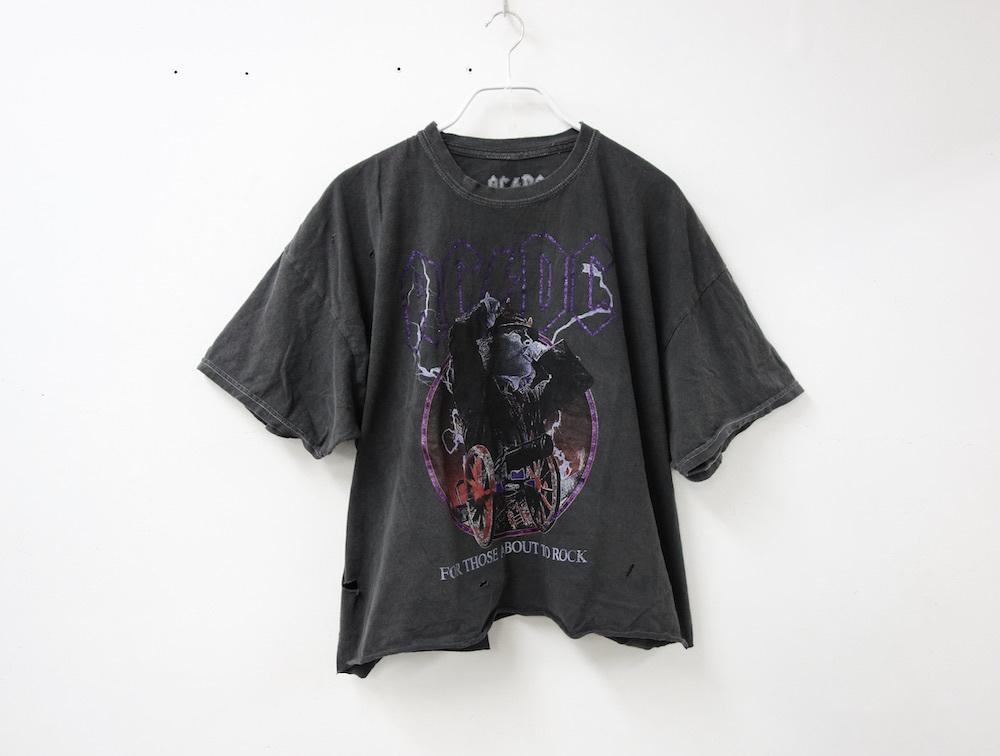 海外限定 オフィシャル AC/DC カットオフ Tシャツ S/M