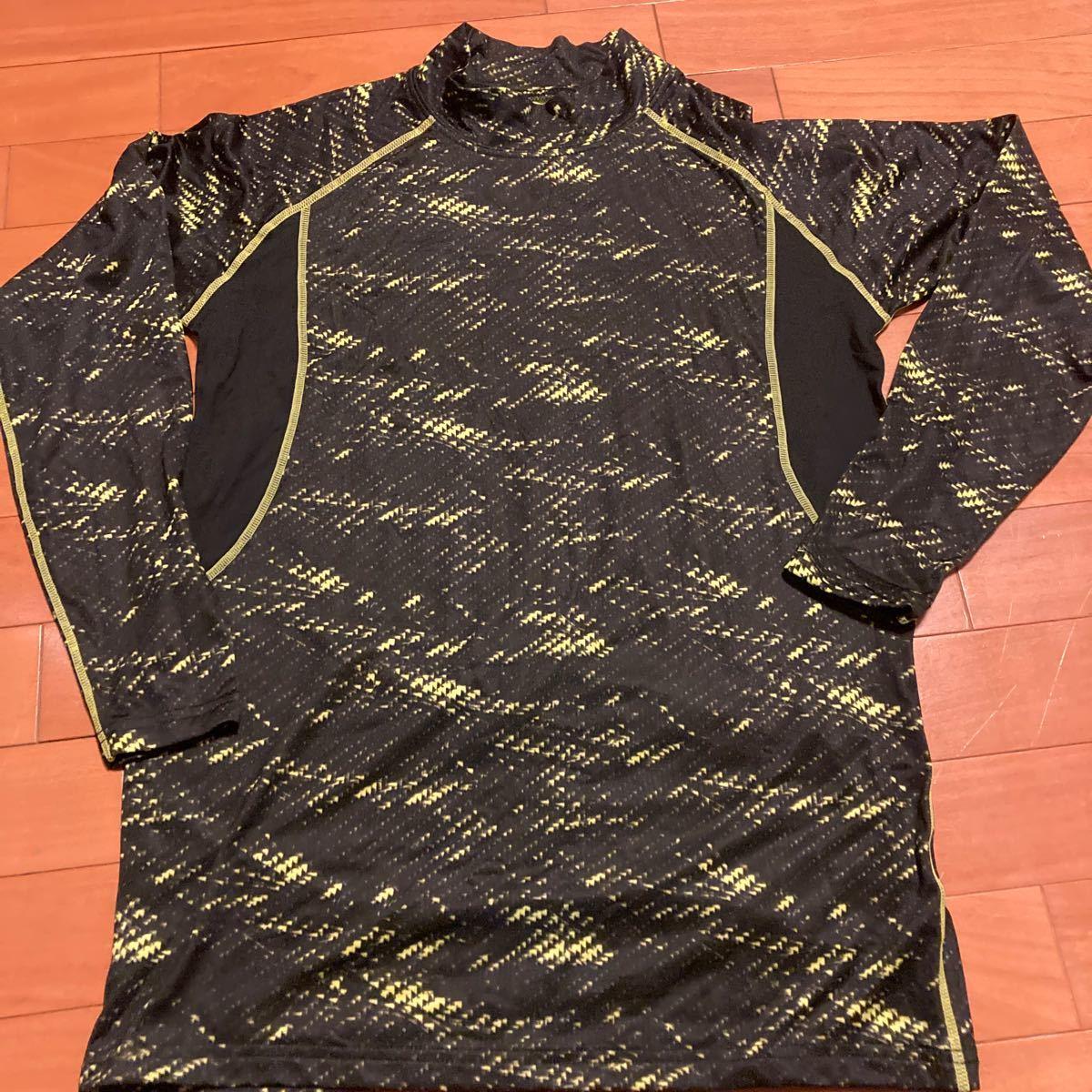 アンダーシャツ 長袖 サイズL 黄色×黒